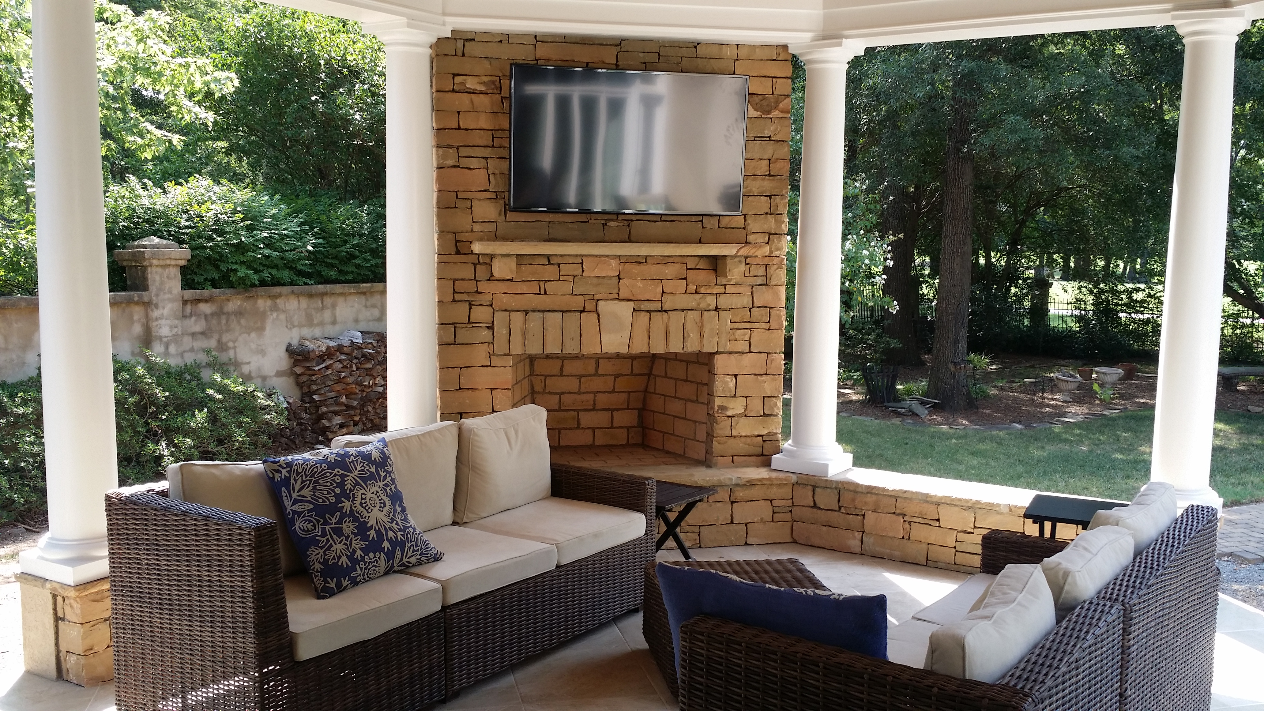 Outdoor Fireplace Installation Charlotte Nc