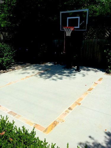 Concrete basketball court